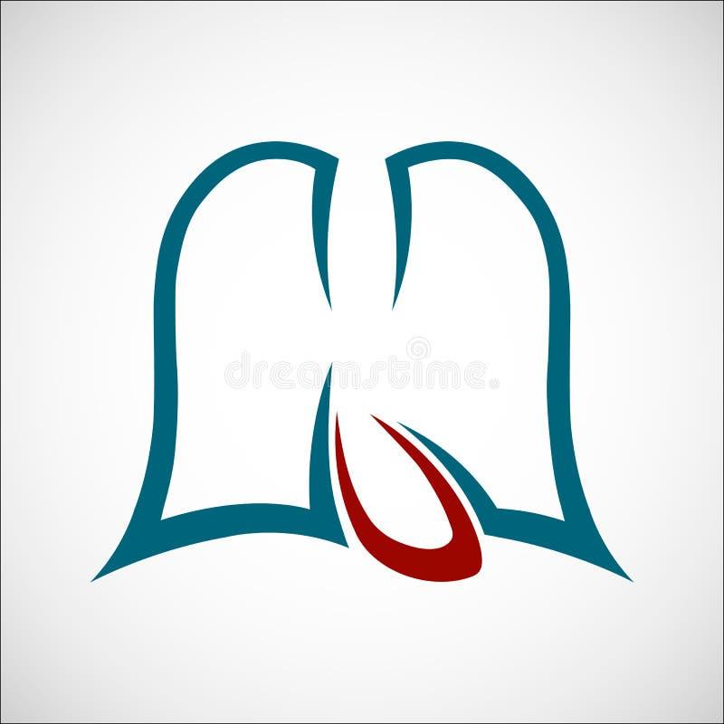 Poumons et contour de coeur images libres de droits