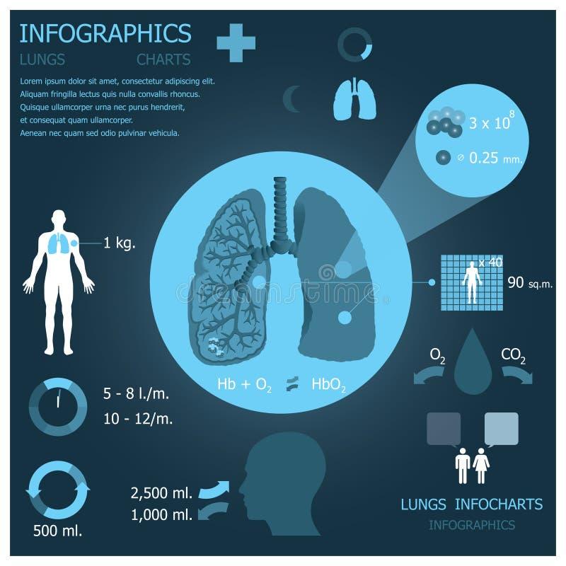 Poumons Infographic Infocharts photo stock