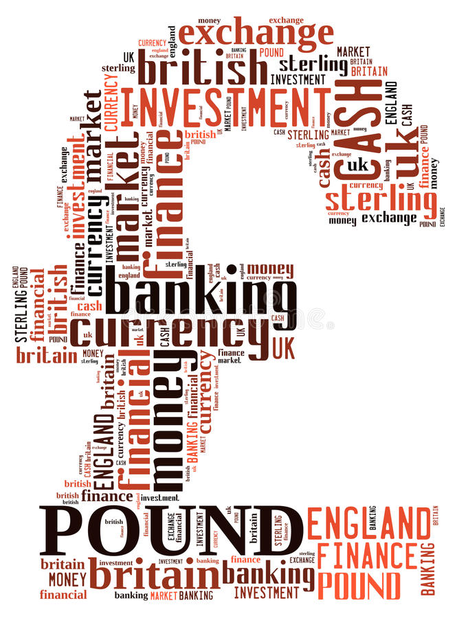 Pound. Info-text graphics composed in  symbol shape concept on white background vector illustration