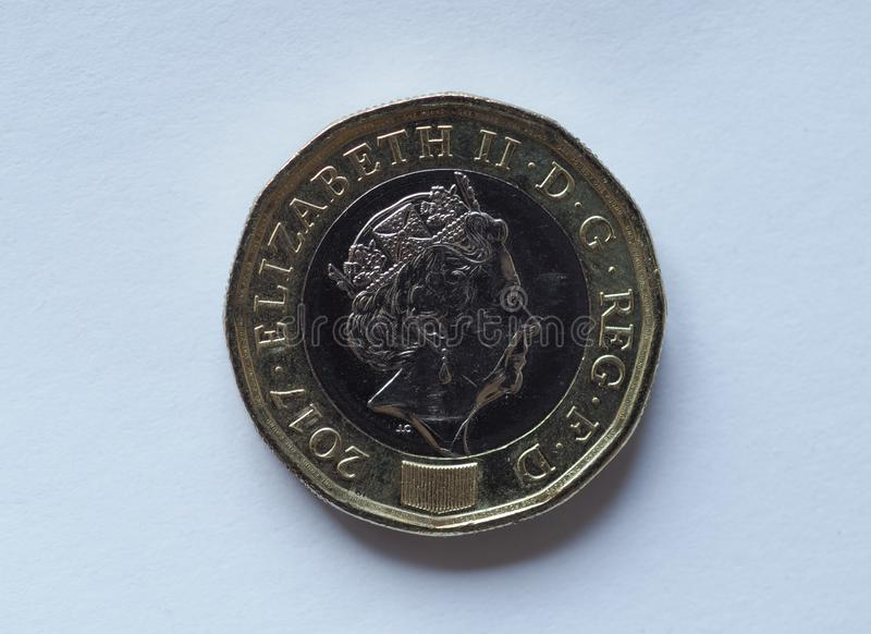 1 pound coin, United Kingdom royalty free stock images