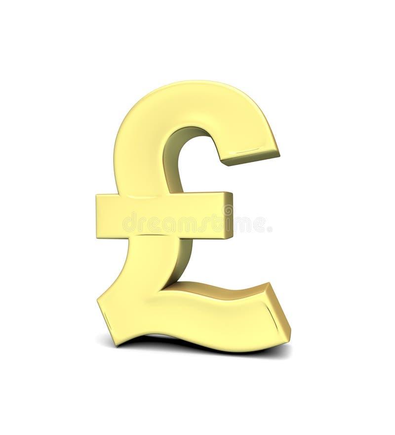 Pound Currency Symbol Stock Illustration Illustration Of Golden