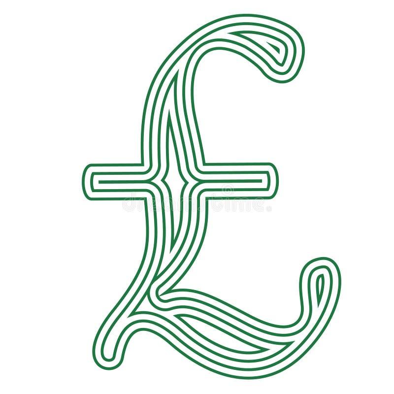 Pound Currency Symbol Vector Illustration Stock Illustration