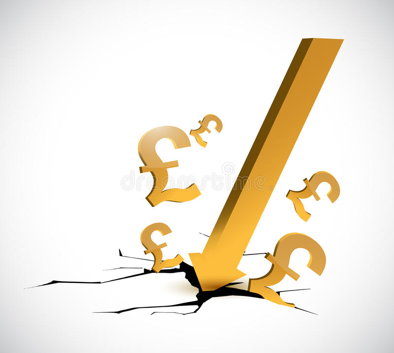 Pound discounts currency concept illustration royalty free illustration