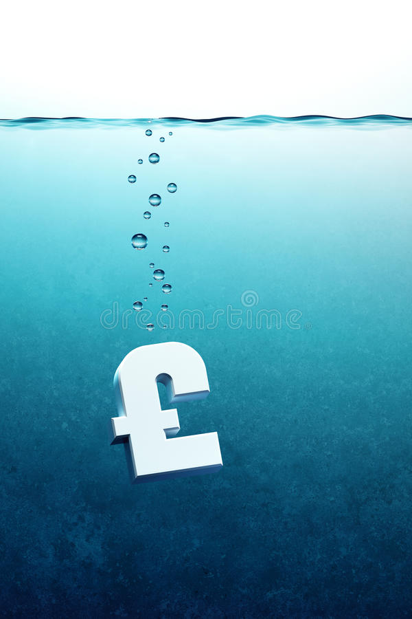 Pound Go Down Royalty Free Stock Image
