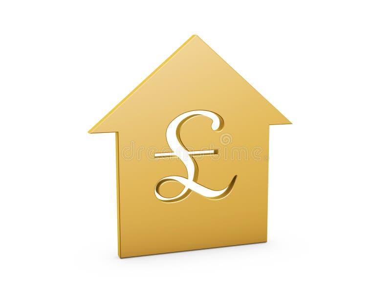 Pound house symbol stock illustration