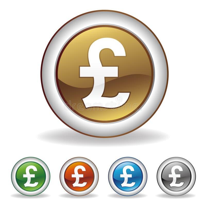 Pound icon. Set on white background
