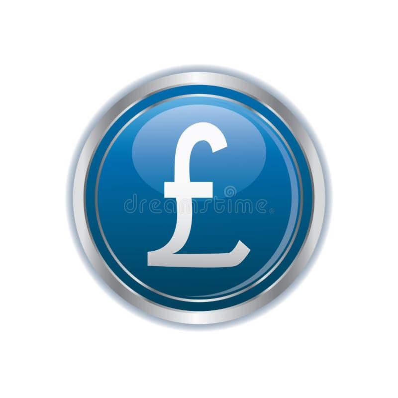 Pound Icon On The Button Stock Vector Illustration Of Pound 105040988