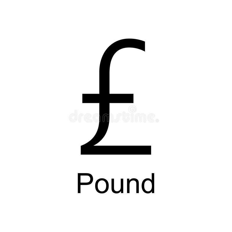 pound icon. Element of currency for mobile concept and web apps. Detailed pound icon can be used for web and mobile. Premium icon stock illustration