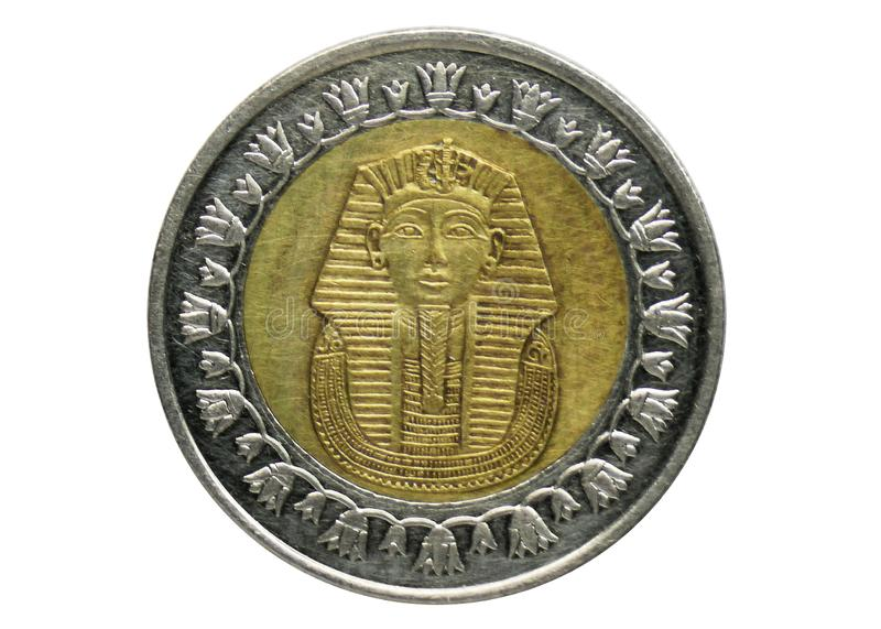 1 Pound Non Magnetic coin, Bank of Egypt. Reverse, issued on 2005. 1 Pound Non Magnetic coin, 1972-Today - Arab Republic Circulation, Bank of Egypt. Reverse royalty free stock photo
