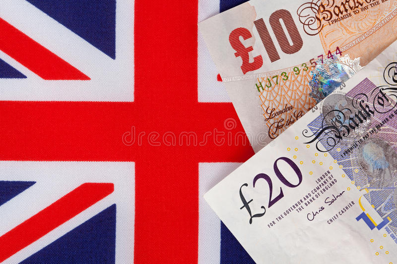 Download Pound Notes On A Union Jack Flag Stock Image - Image: 31147785