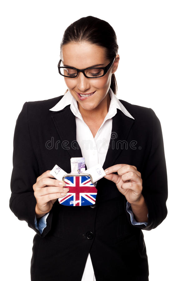 Download Pound saving. stock photo. Image of hands, joyful, girl - 29273482