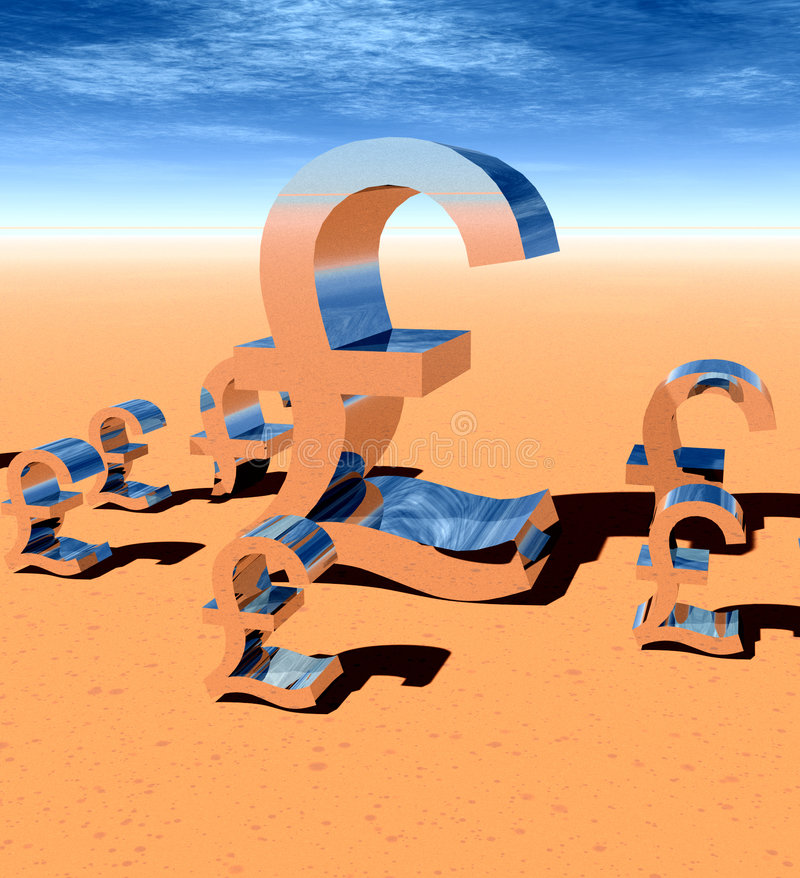 Pound Sign 20. This is a British pound sign stock illustration