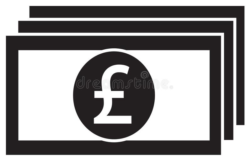Pound Or Pound Sterling Currency Icon Or Logo On A Bank Note Or Bill