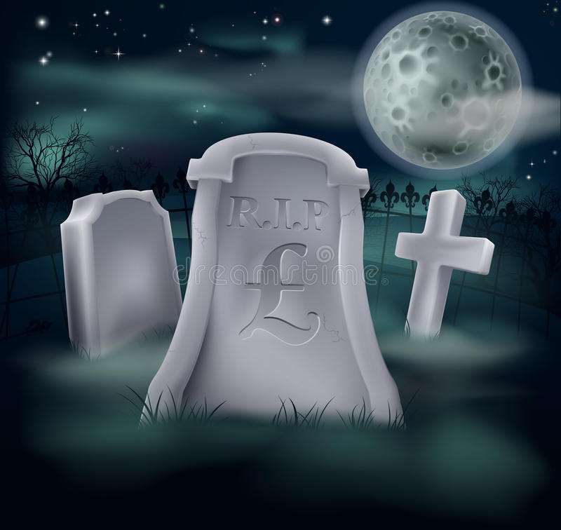 Download Pound Sterling Grave Concept Stock Image - Image: 28056659