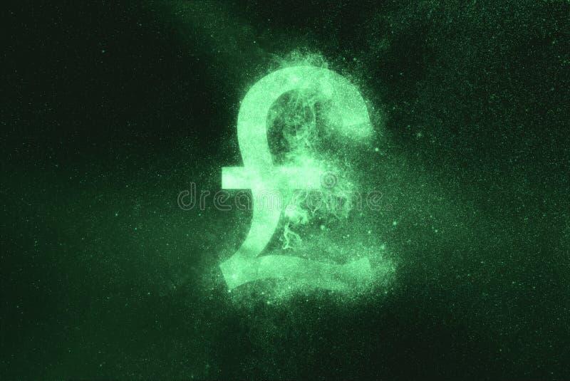 Pound sterling sign, Pound sterling Symbol. Green symbol. Symbol royalty free stock image
