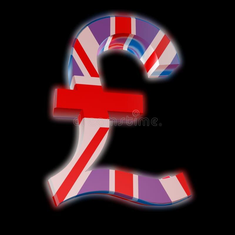 Download Pound Sterling With UK Flag Stock Illustration - Illustration: 7664808