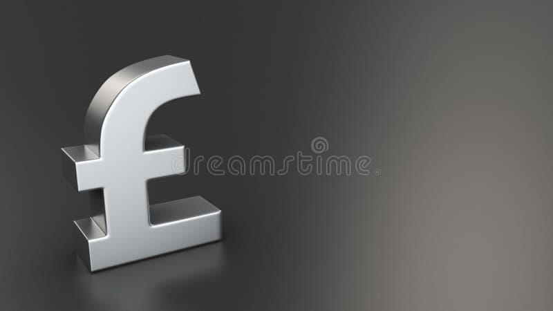 Pound symbol on black stock illustration