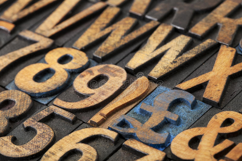 Download Pound symbol in wood type stock image. Image of sign - 27712081
