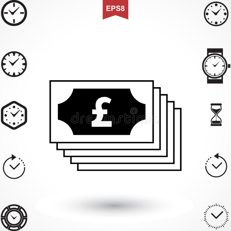 Pound Vector Icon Stock Vector Illustration Of Shape 93742764