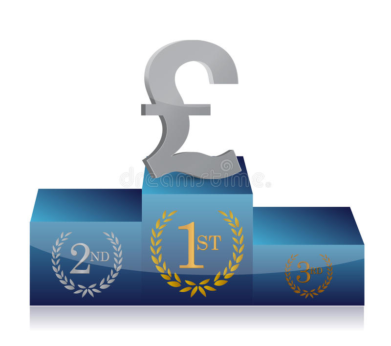 Pound winner's podium vector illustration