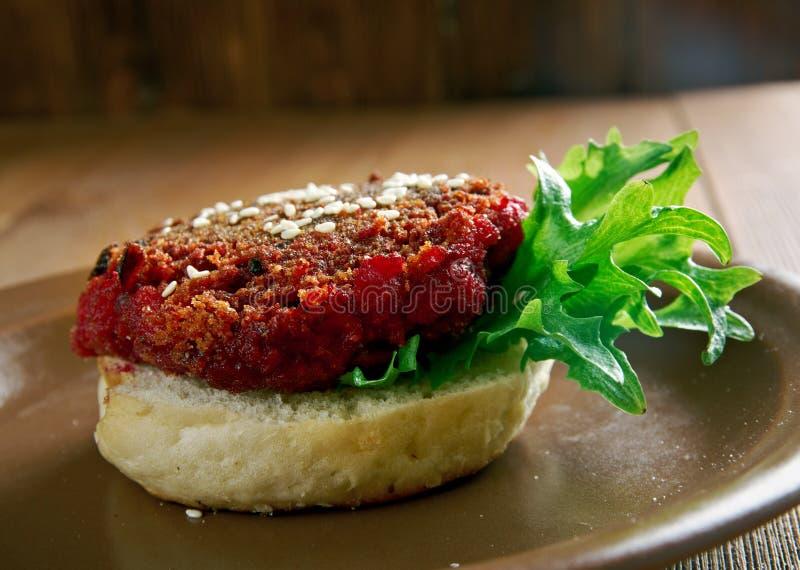 Pounder τετάρτων Burger τεύτλων στοκ εικόνα