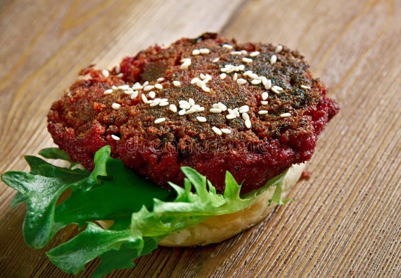 Pounder τετάρτων Burger τεύτλων στοκ εικόνες