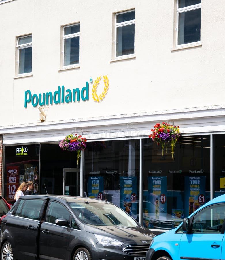 Poundland sklepu pierzeja zdjęcia stock