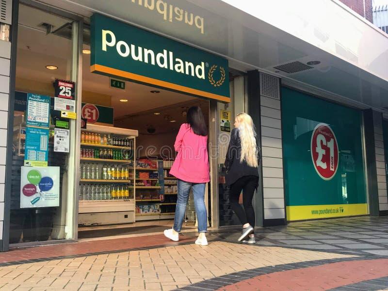 Poundlandopslag stock foto