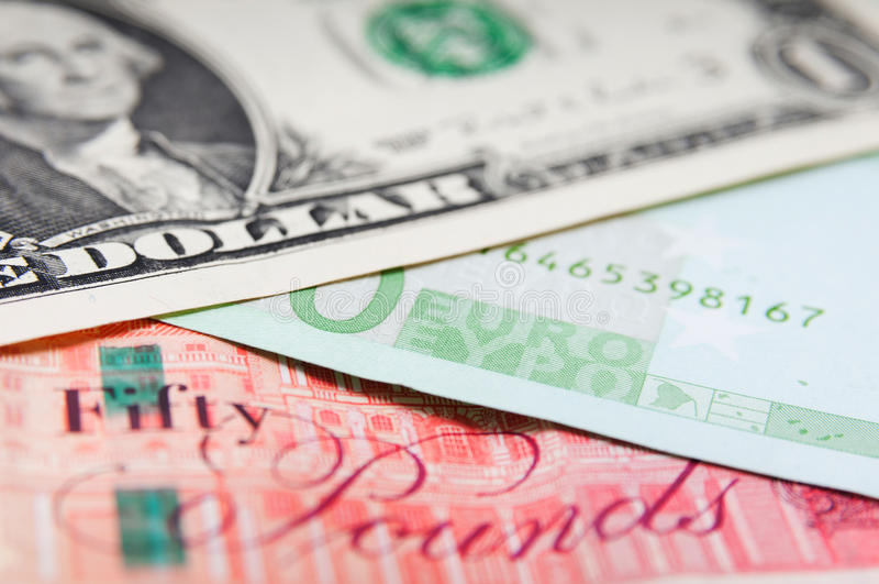 Download Pounds euros and dollars stock image. Image of notes - 71796345