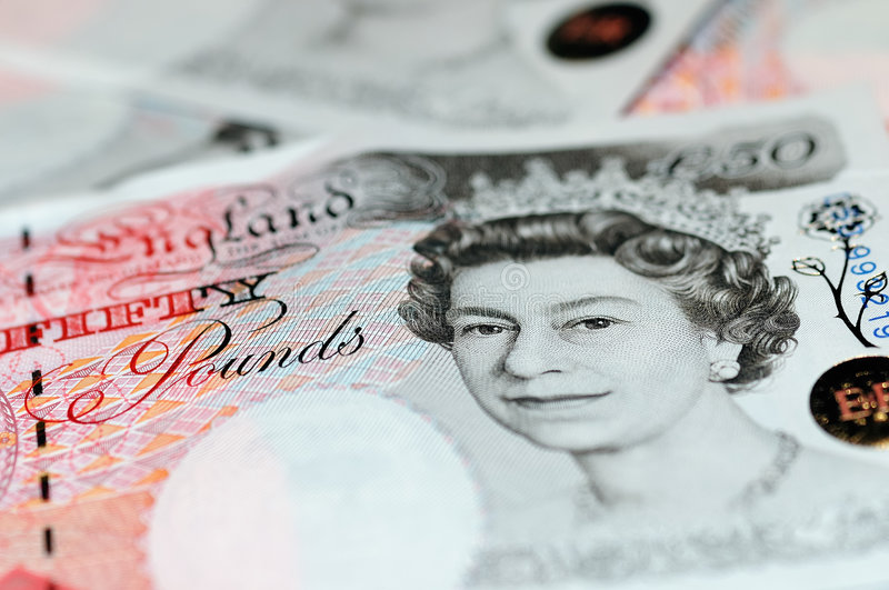 Pounds Note - Fifty Royalty Free Stock Photos