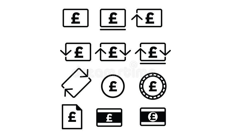Poundsterling symbol arkivbild