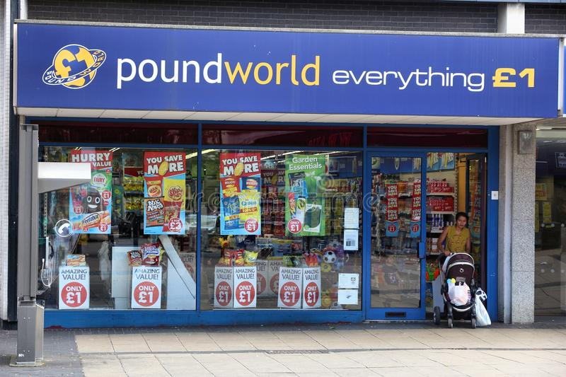 Poundworld discount store royalty free stock photography