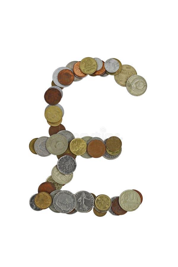 Poundzeichen lizenzfreie stockfotografie