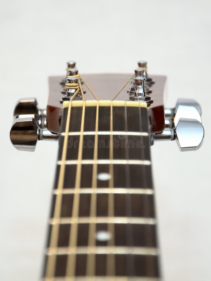 Poupée Classique De Guitare Acoustique : Chevilles, Clés Image stock