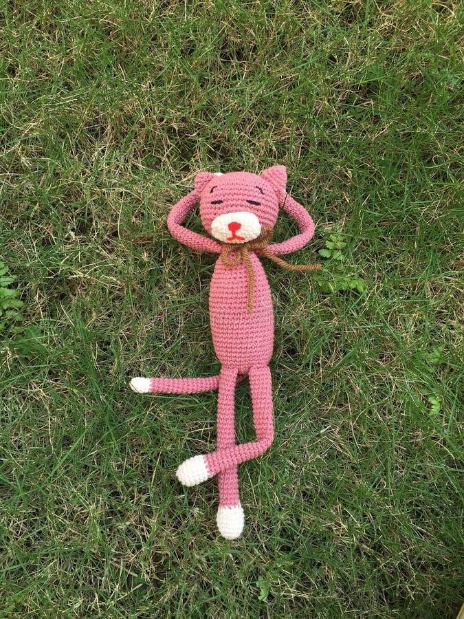 Poupée de chat de crochet image libre de droits