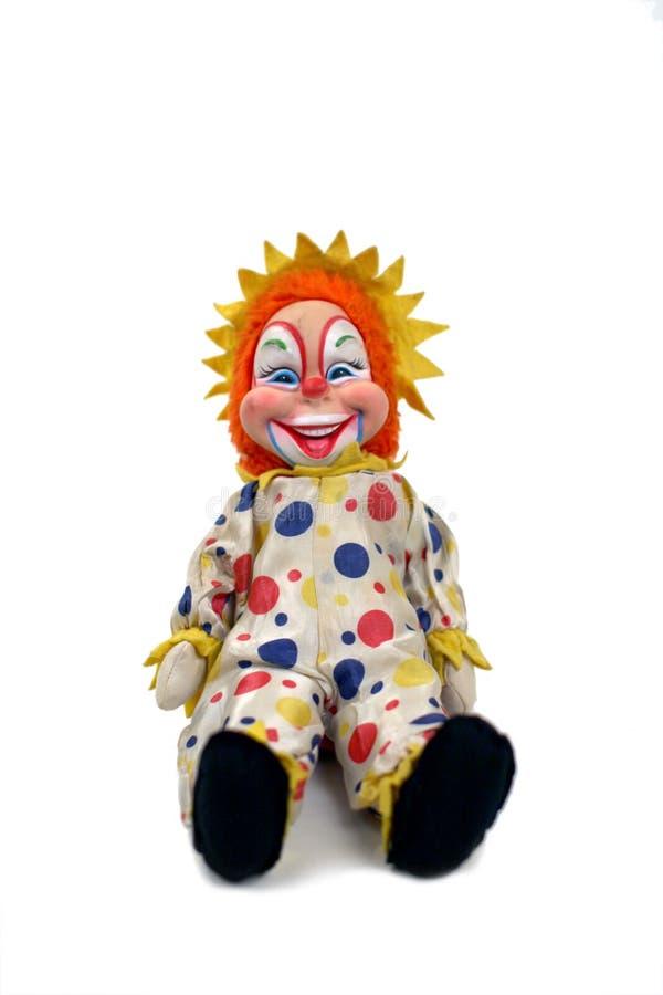Poupée de clown de cru images libres de droits