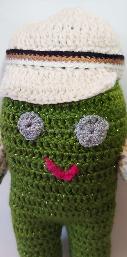 Poupée de crochet faite main photo stock
