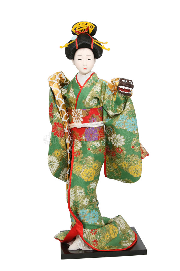 Poupée de geisha. photographie stock libre de droits