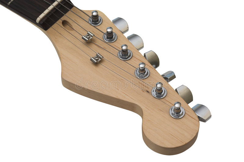 Poupée de guitare électrique avec le chemin de découpage. image stock