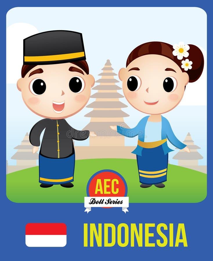 Poupée de l'AEC de l'Indonésie illustration de vecteur