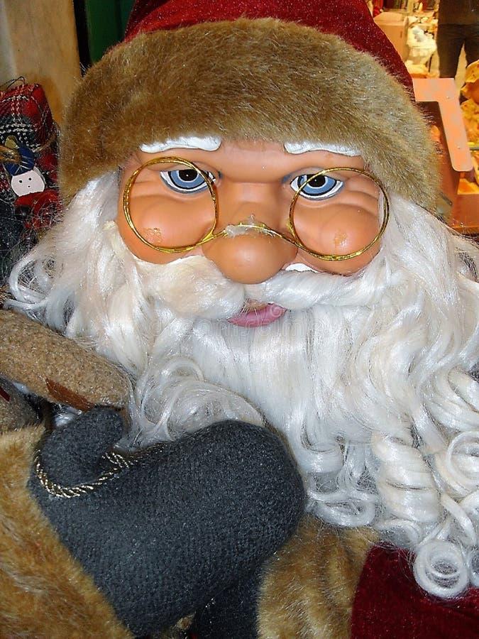 Poupée de Santa Claus, avec des verres image stock