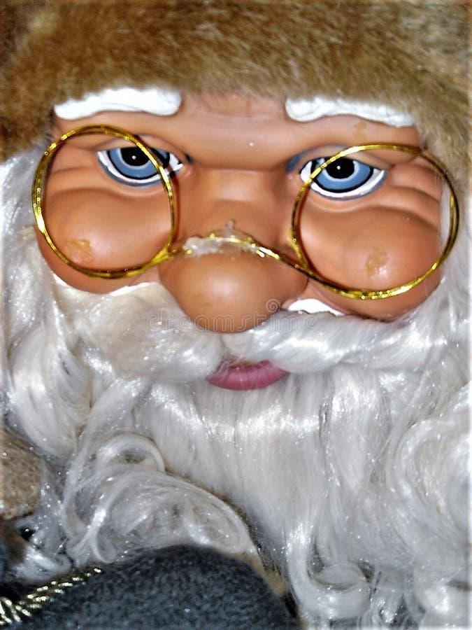 Poupée de Santa Claus, avec des verres photos libres de droits