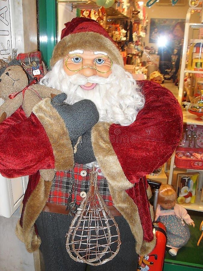 Poupée de Santa Claus, avec des verres photographie stock