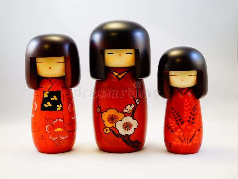 Poupée en bois japonaise Kokeshi images libres de droits