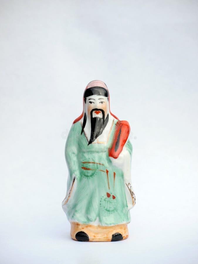 Poupée en céramique chinoise photographie stock libre de droits