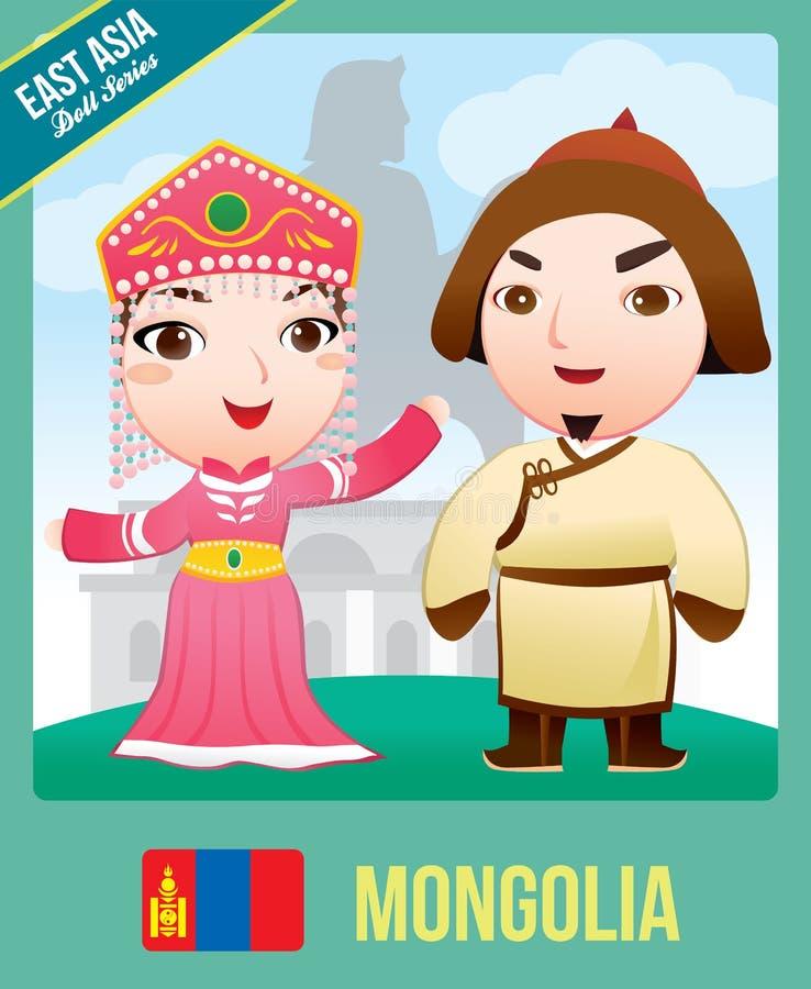 Poupée mongole illustration de vecteur