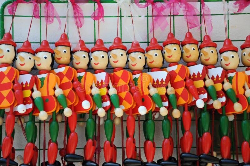 Poupées de Pinocchio photo stock