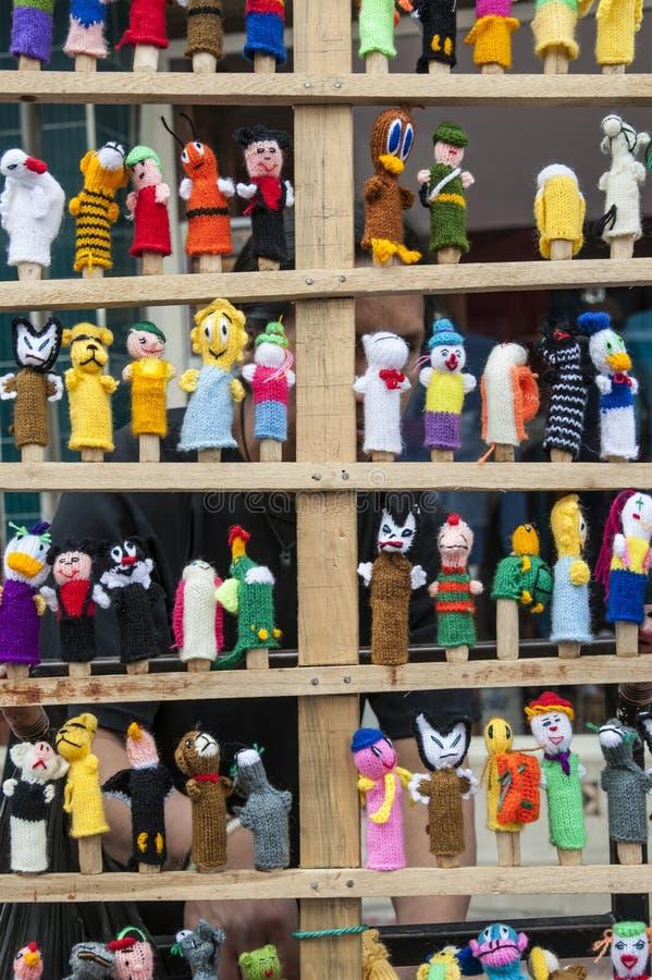 Poupées traditionnelles de textiles d'ecuadorian photographie stock libre de droits