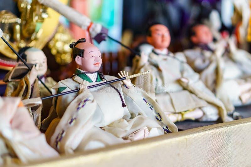 Poupées traditionnelles japonaises photo stock