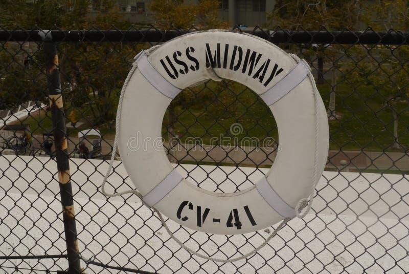 Poupança de vida intermediária de USS imagem de stock